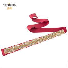 TOPQUEEN Золотая лента для платья, золотые стразы, пояс для невесты, пояс для подружки невесты, коктейльные платья, пояс S164-G(Китай)