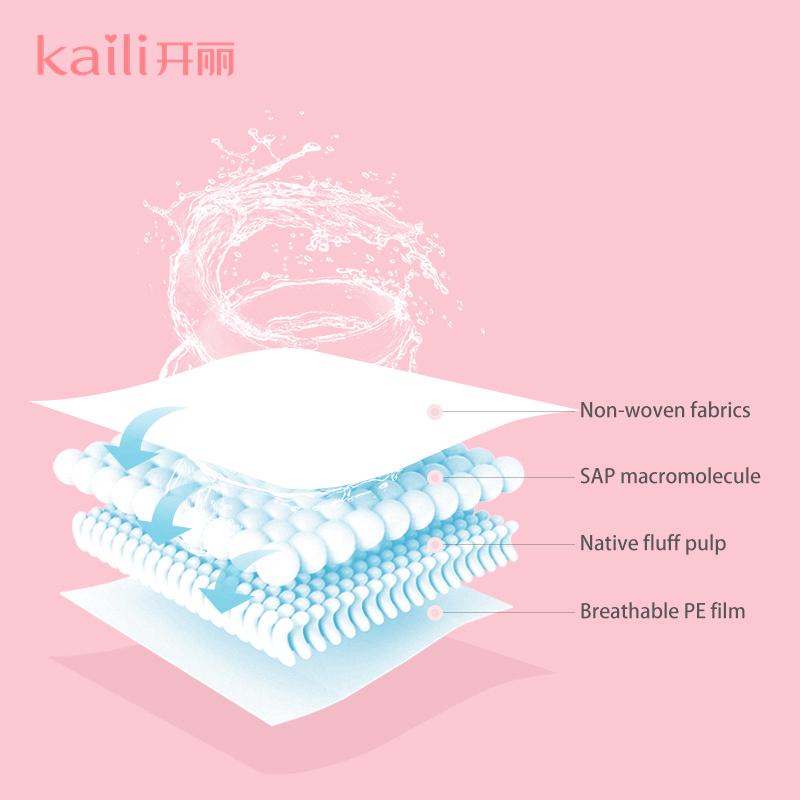 Kaili RTS Dropshipping 100 pcs Disposable Ultra thin nursing breast pads for nursing mom in stock