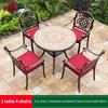 4-4 JL chair 1 imitati marble AL frame table 90cm