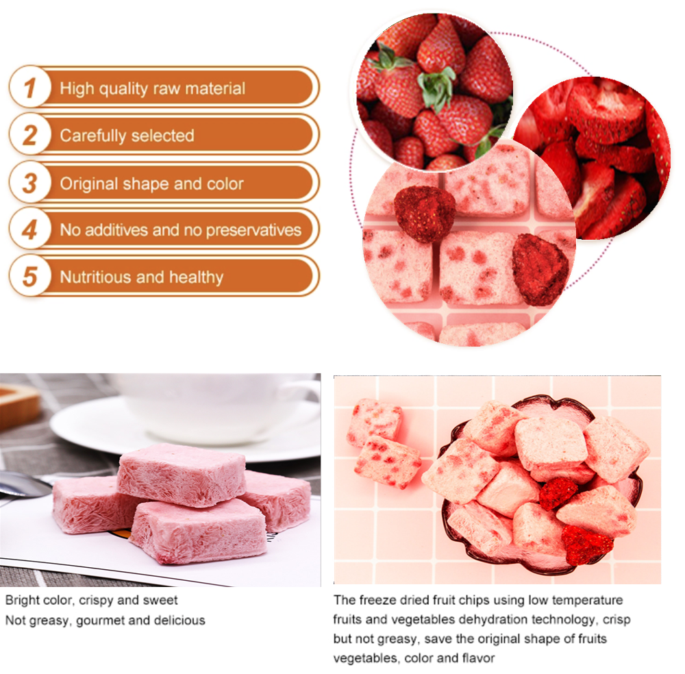 Natural freeze Dried Yogurt Strawberry premium grade fresh Frozen Yogurt Strawberry pieces Yoghourt with right prices