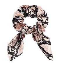 Модные резинки для волос держатель для хвоста Леопардовый бант веревка для волос для женщин резинки для волос Твердые ленты аксессуары для ...(Китай)
