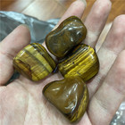 Hand carved tiger eye natural stone crystal quartz Tumbled stone