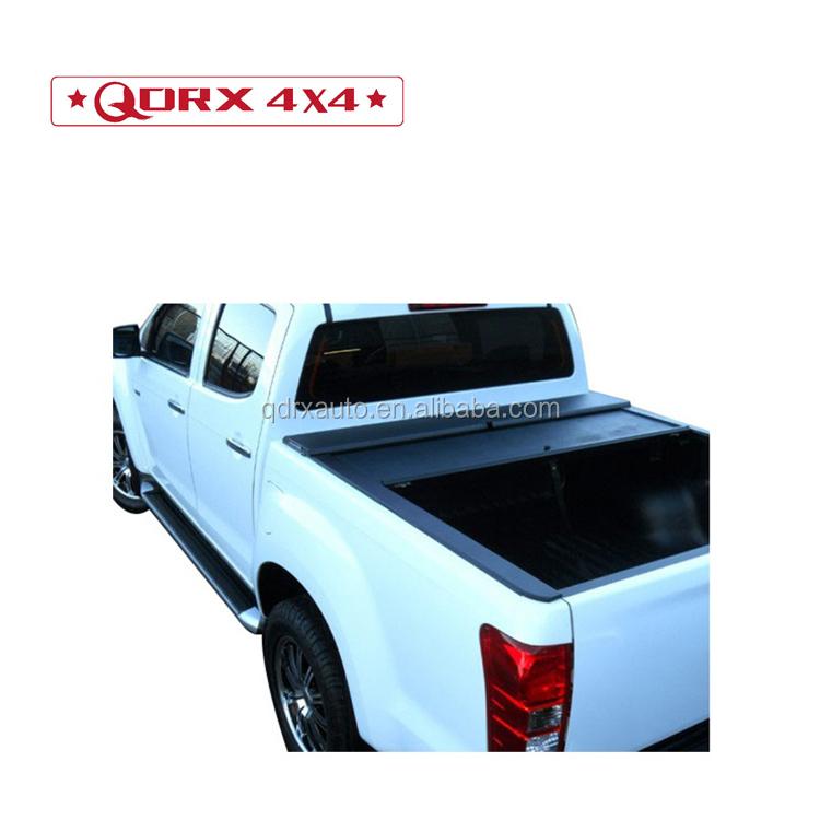 Retractable pickup bed tonneau cover 4x4 aluminum roller lid