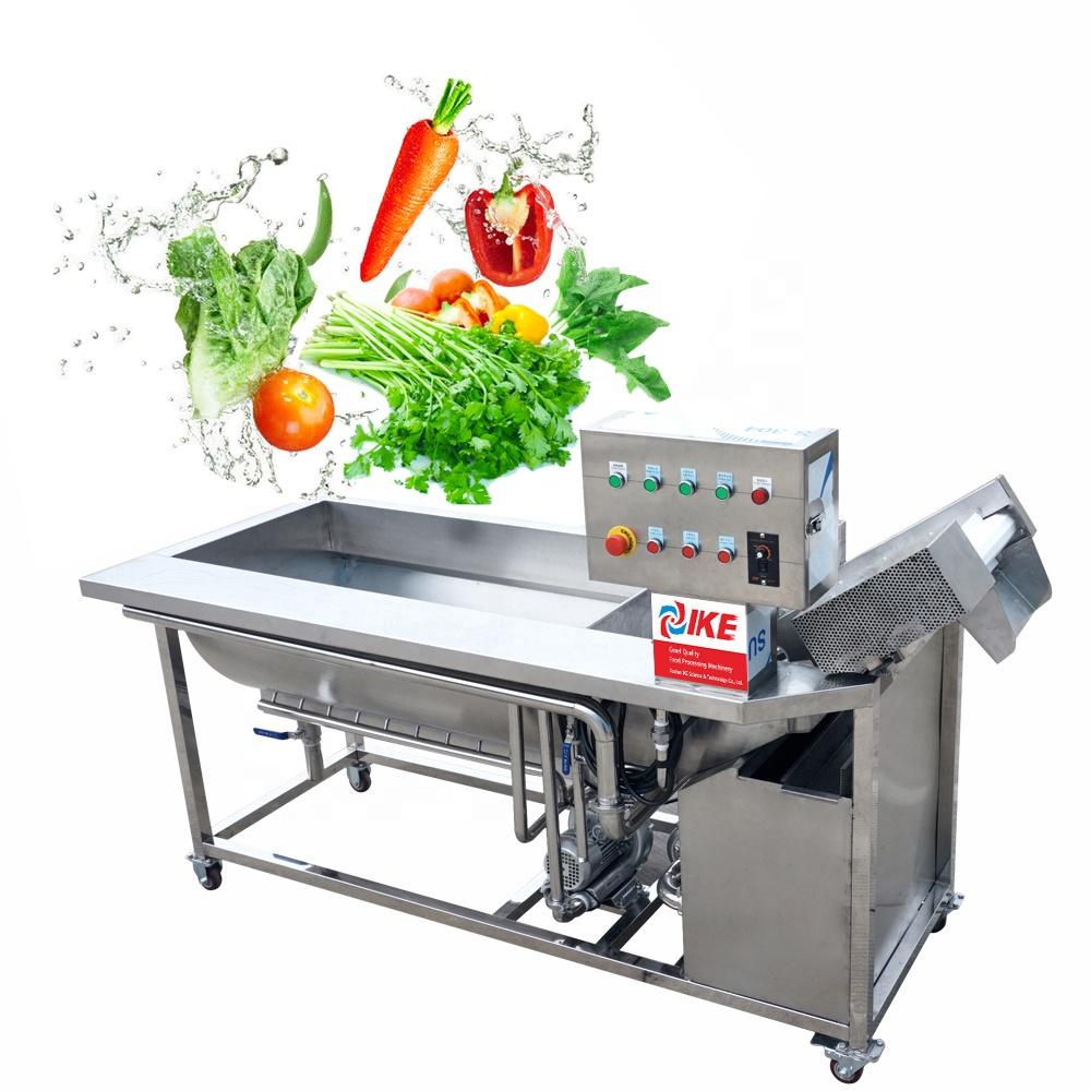 Eddy Current Fruit Washing Equipment Ozone Vegetables Washer Air Bubbles Chili Washing Machine