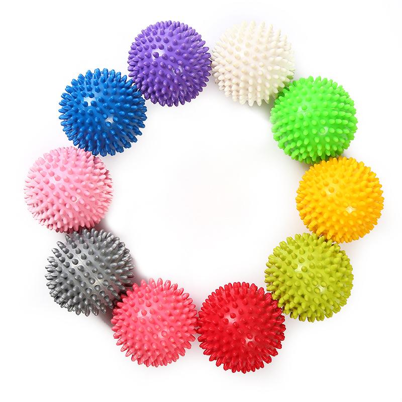Роликовый массажер для мышц, прочный пластиковый массажный ролик, шарики-спицы для тела, для фитнеса, для расслабления пальцев, ручной массажный инструмент, 7,5-9 см