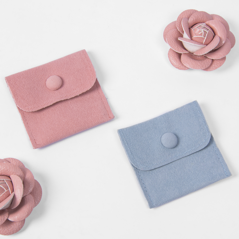 Individuelles logo multifunktions blau rosa samt schmuck beutel verpackung schmuck beutel mit box