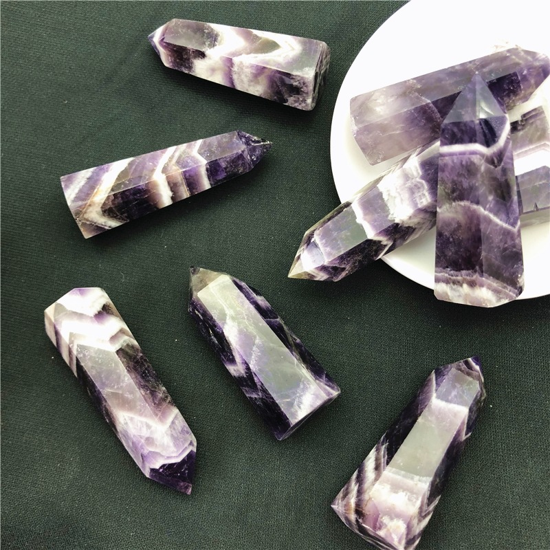 natural stone crystals healing stones amethyst Clear Quartz crystal Wand Crystal Point