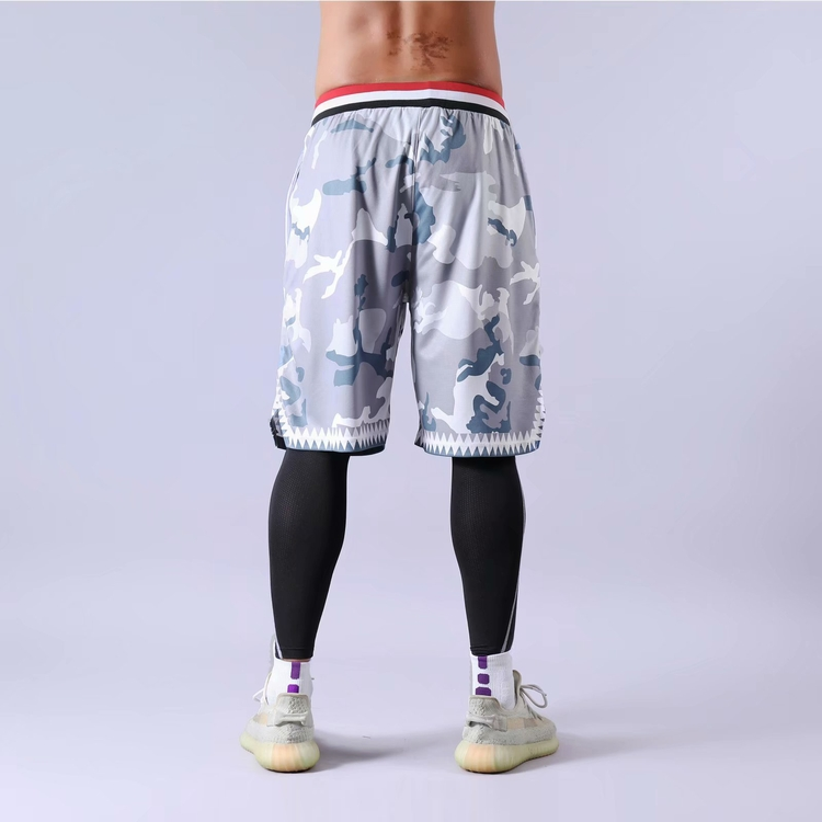 Factory direct custom made design camo sublimation basketball shorts for adult