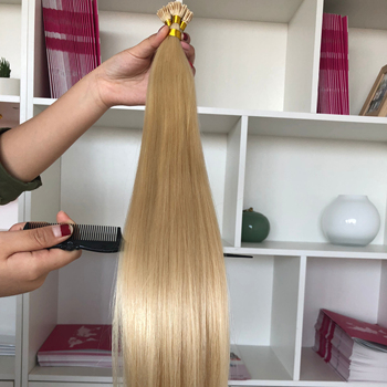Wholesale Double Drawn Remy Skin Weft #613 I-tip Hair Extensions Double Drawn I-tip Hair Extensions Human Hair