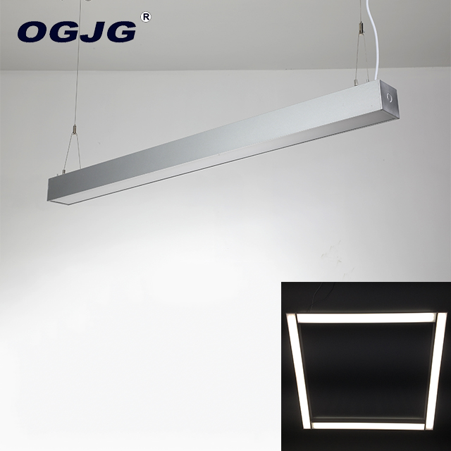 OGJG 4Ft Work Ceiling Linear Lamp Pendant LED Light Fixtures For Office Shop