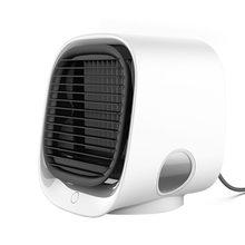 Воздушный кулер вентилятор мини настольный кондиционер с ночным светом мини USB вентилятор водяного охлаждения Увлажнитель Очиститель Мног...(Китай)