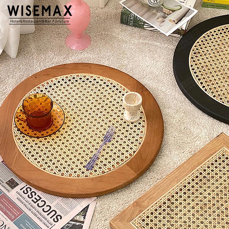 Различные цвета украшения обслуживание ротанга стол украшение столовая чашка размещение мат блюдце