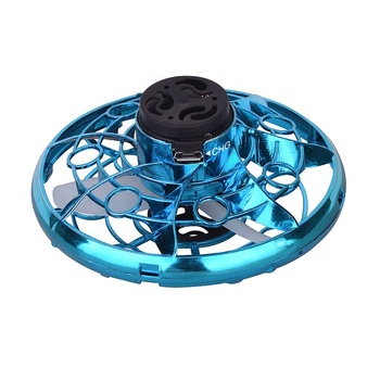 CE certificate Flying Gyratory 3d plastic Gyroscopes mini Flying Drone UFO spinner top toy with light