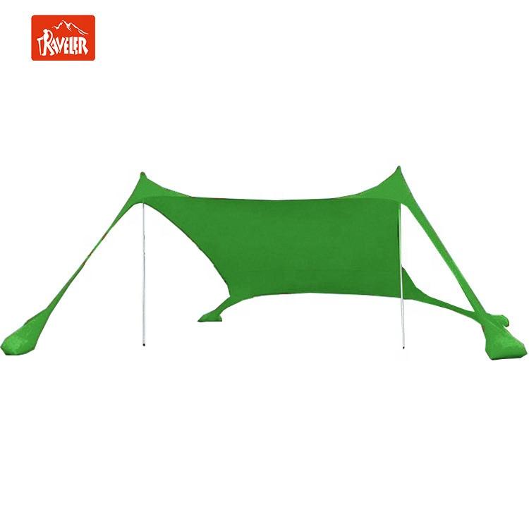 China Supplier New Product Lightweight Lycra Beach Tent Sunshade Shelter Pop Up Beach Tent with Built-in Sandbags