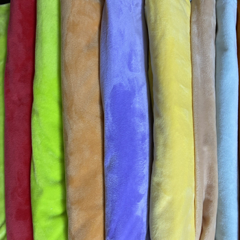 readymade stock lot super soft velboa 100 polyester micro velour fabric 100% polyester plush fabric for plush soft toy fabric