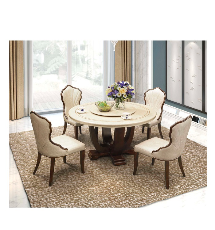 4 Seater 6 Seater Marble Top Dining Table With Dining Chairs Buy Solid Wood Dining Table Round Marble Dining Table 10 Seater Dining Table Product On Alibaba Com