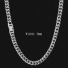 8mm silver necklace