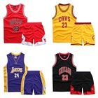 boy clothing Children's basketball clothes set curry Kobe James red custom track suits