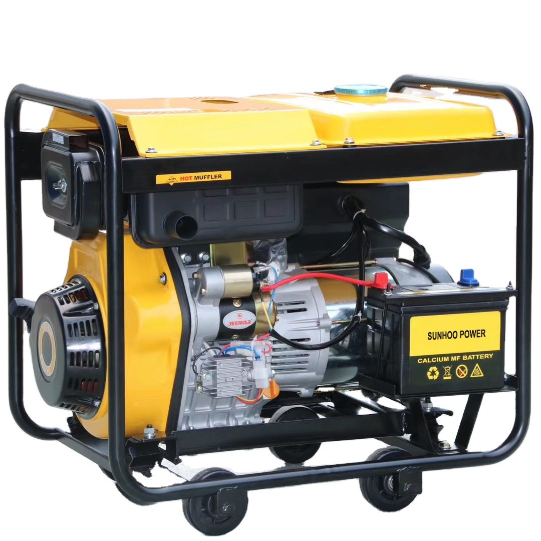Manufacturer direct supplier portable direct injection single cylinder four stroke air cooled diesel generator