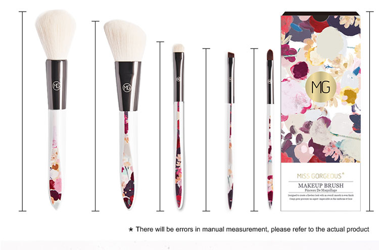 5pcs Hot Sale Professional Blusher Eyeshadow Foundation Cosmetic Kit Makeup Brush Set
