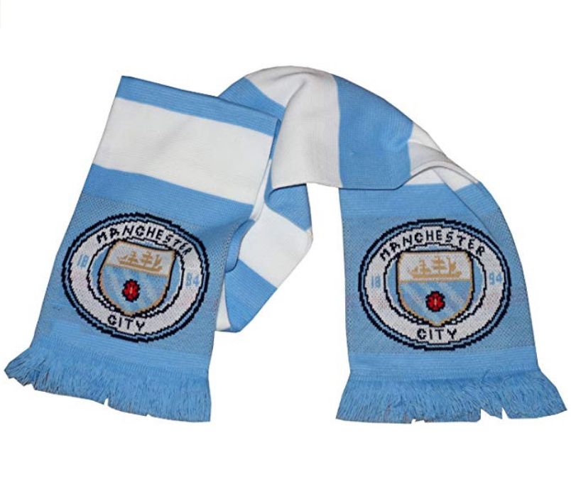 Wholesale Promotional Custom Sublimation Own Design Fans Sport Knitted Soccer Scarf For football