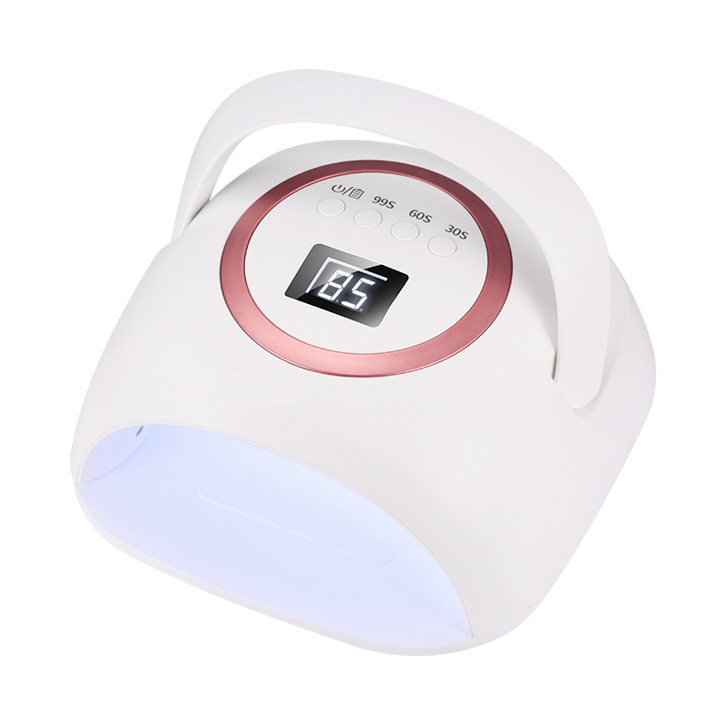 Беспроводная ультрафиолетовая Светодиодная лампа для сушки ногтей iBelieve 72 Вт, перезаряжаемая лампа для ногтей с ЖК-дисплеем
