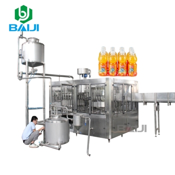 Industrial small complete fruit juice making processing production line / apple juice hot filling capping machine equipment