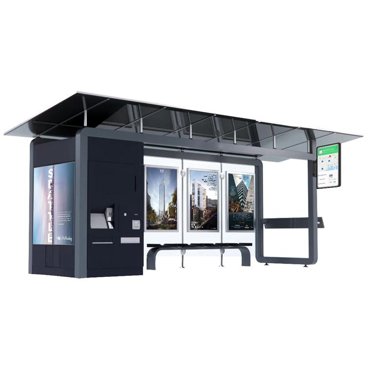 Интеллектуальная система общественного транспорта, укрытие для автобуса и металлическая умная автобусная остановка из нержавеющей стали