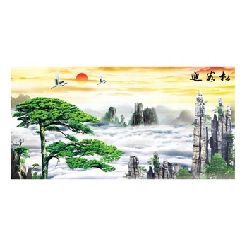 High quality 3d beautiful picture scenery with lenticular sheet 130cm*70cm