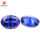 Redleaf Jewelry Wholesale Oval Shape Tanzanite Color gemstone Synthetic Crystal Zirconia Gems