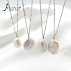 Fashion Jewelry 925 Sterling Silver Baroque Freshwater Pearl Necklace