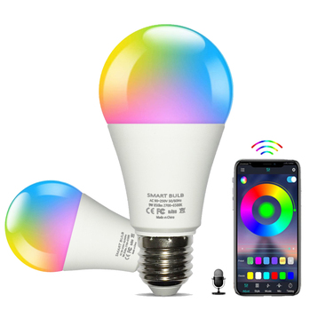 Support Alexa/Google Home voice control 9W10W E27/E26/B22 RGBW Dimmable Timer Function LED Magic Light Bulb Wifi Smart Bulb