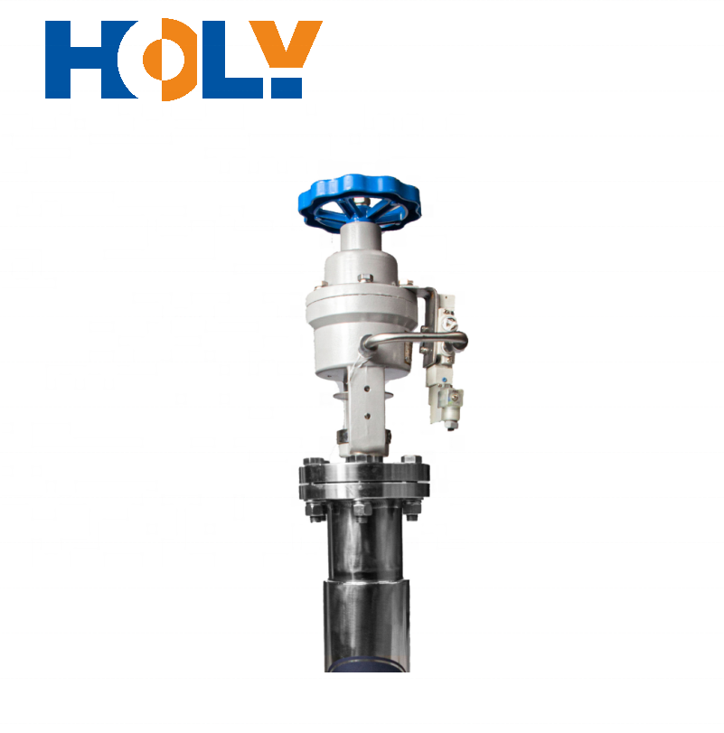 DN100-150 Vacuum Insulated Pneumatic Shut off Valve which controls Liquid Hydrogen in Vacuum Pipe
