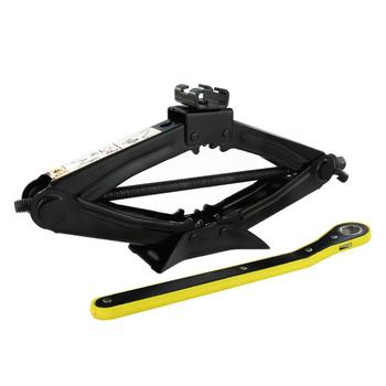 1.5 tons (3,000lbs) Capacity Black Steel Durable Car Scissor Jack with Crank Handle