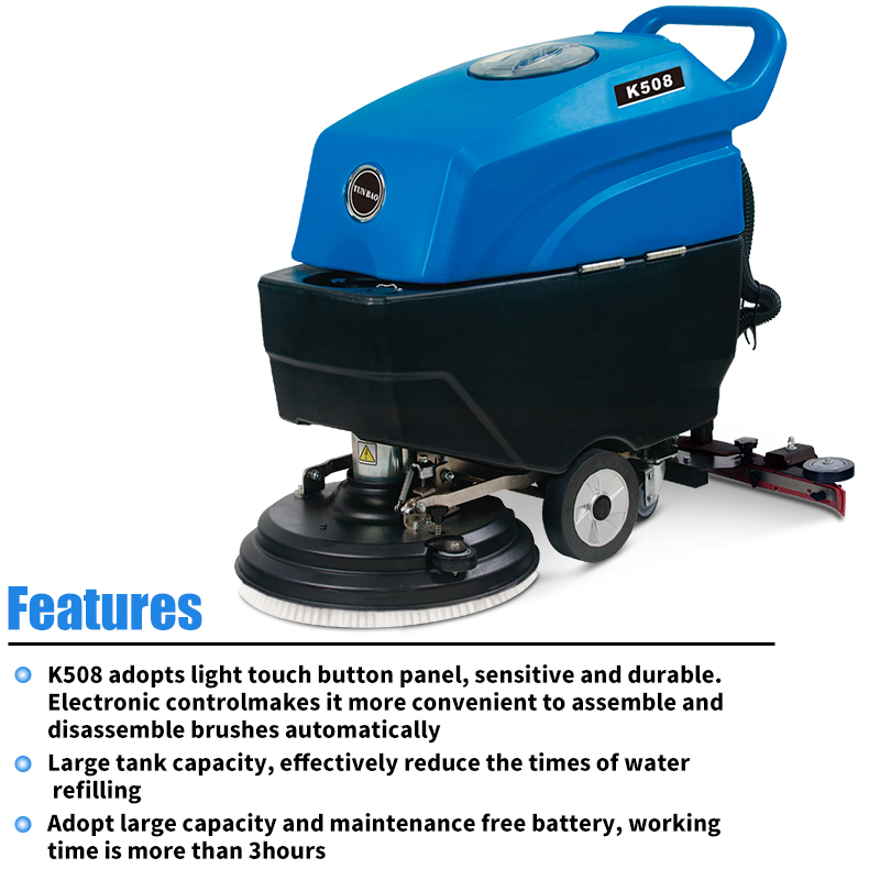 Light-touch automatic battery version of the floor scrubbing dryer, scrubbing machine, factory floor cleaning machine