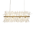 Design Modern Crystal Light Pendant Luxury Dining Room Table Chandelier Lights Metal Pendant Light