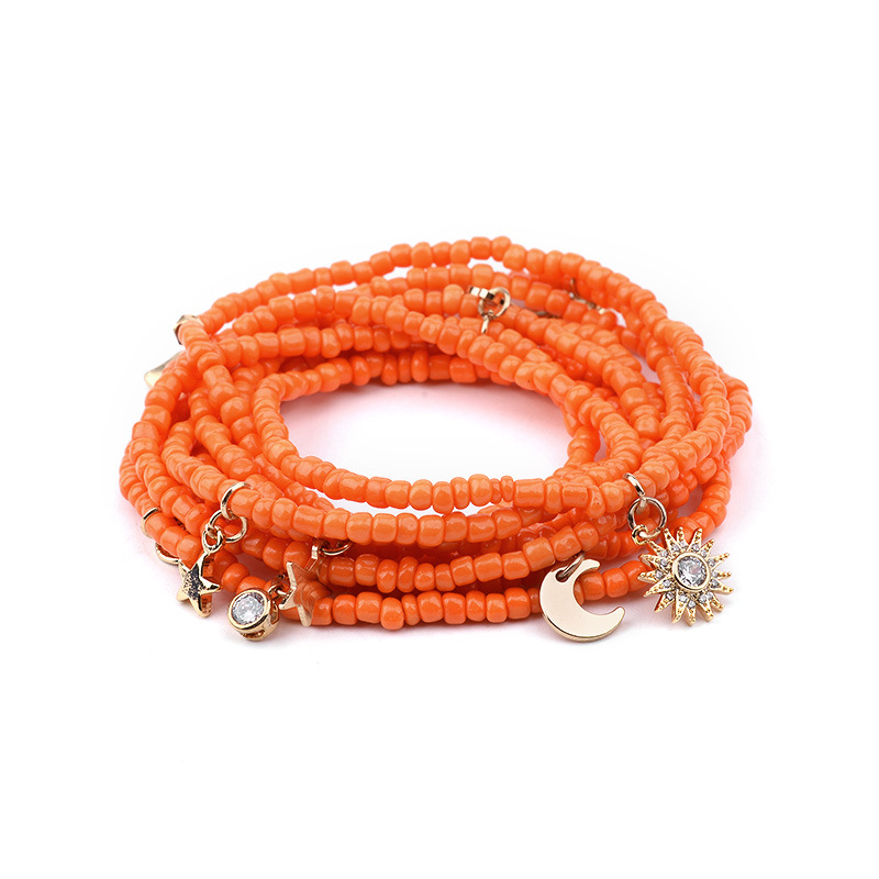 Wholesale Elastic big size bracelet/necklace/waist beads beaded layer chain with charms