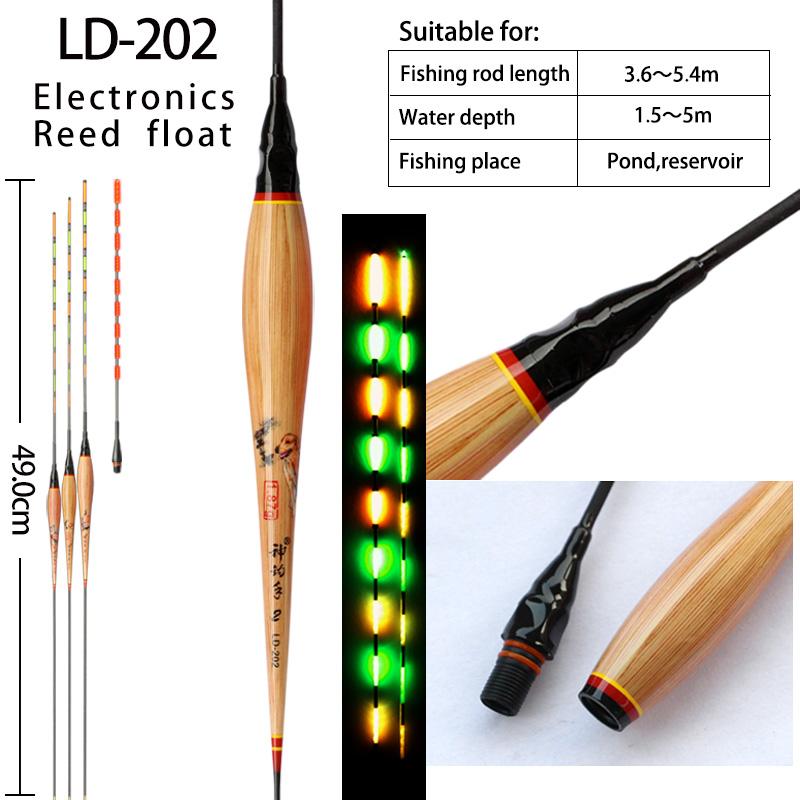 LD-202 gravity sensing LED fishing float color changed electronic buoy