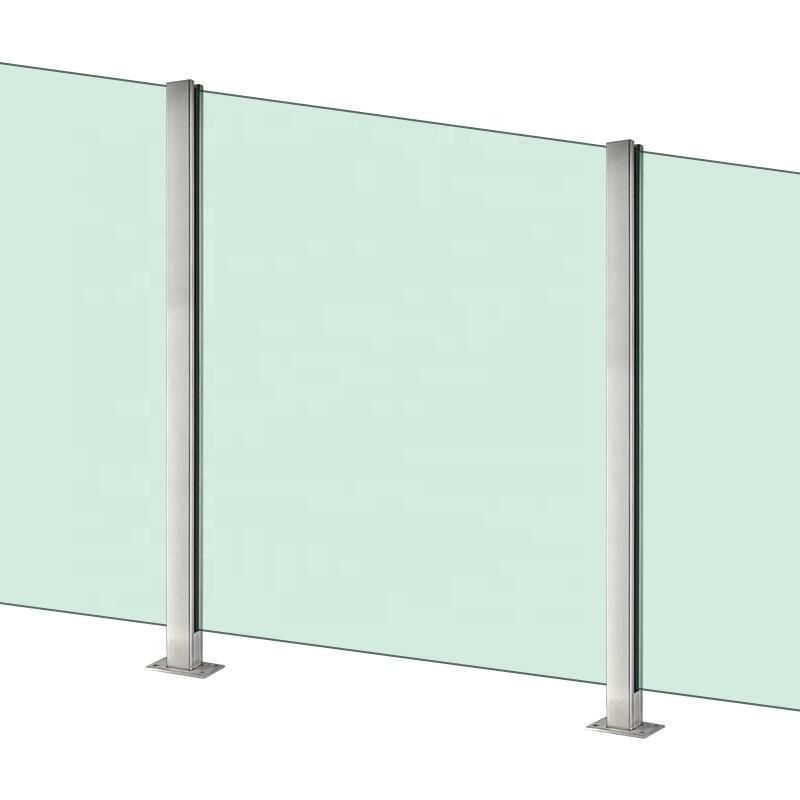 12 мм, перила из закаленного стекла, Наружная Стеклянная балюстрада, стеклянная балюстрада, перила балюстрады