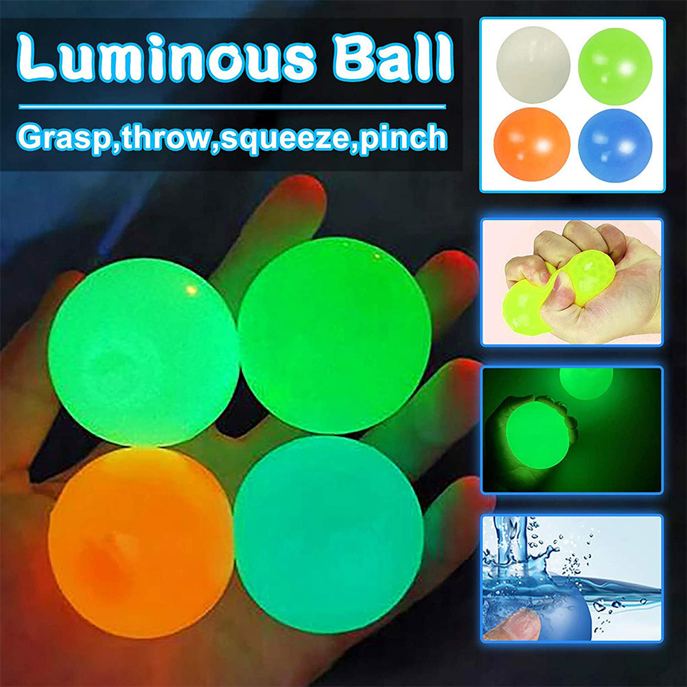 HOT sale Ceiling wall Suction Cup Ball Indoor Parent-child Interaction 4.5CM Sticky wall Ceiling Ball For Child