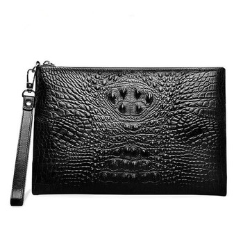 OEM Men's clutch bag crocodile genuine leather handbag fashion handbags for Men business clutch bags wholesale