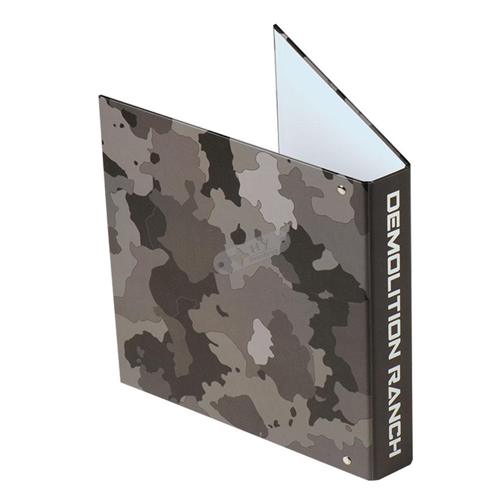 Hardcover custom binders OEM Logo printed 3 Hole Rings a6 binder wholesale paper file folder