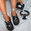 shoe+bag+headband black