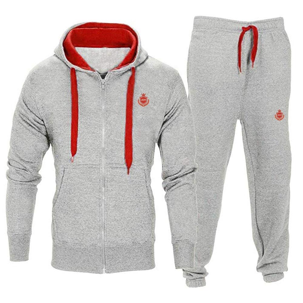 Mens Fleece Hoodie Sweatshirt Bottoms Trackies Set Joggers Gym Jogging Top Suits