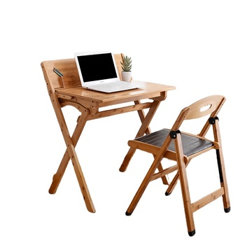 Living room door furniture square Bamboo Folding Computer Writing Desk Children's Study Table Wall-mounted drop leaf table