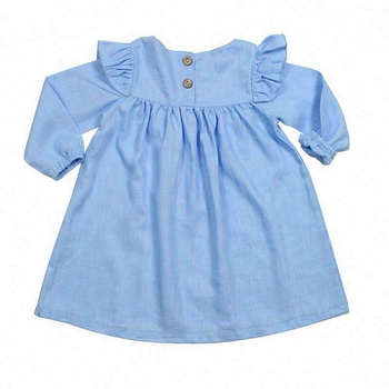 Summer 2021 girl clothes kids one piece dress cute party wear wedding frocks for Princess baby 4 months