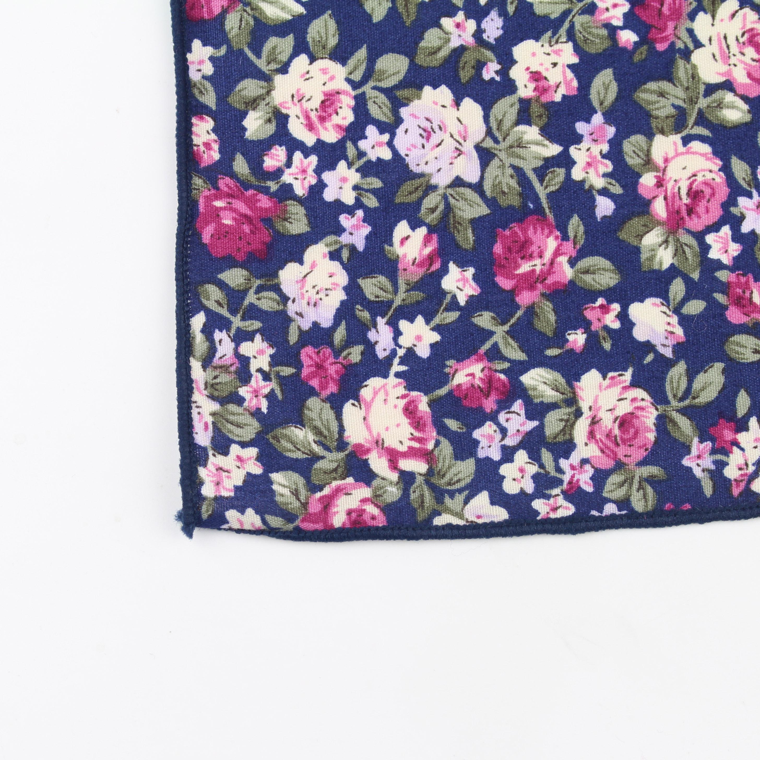 Новый стиль, носовой платок, шарфы, винтажные хлопковые носовые платки, мужские карманные квадратные носовые платки, розовый цветок, Пейсли