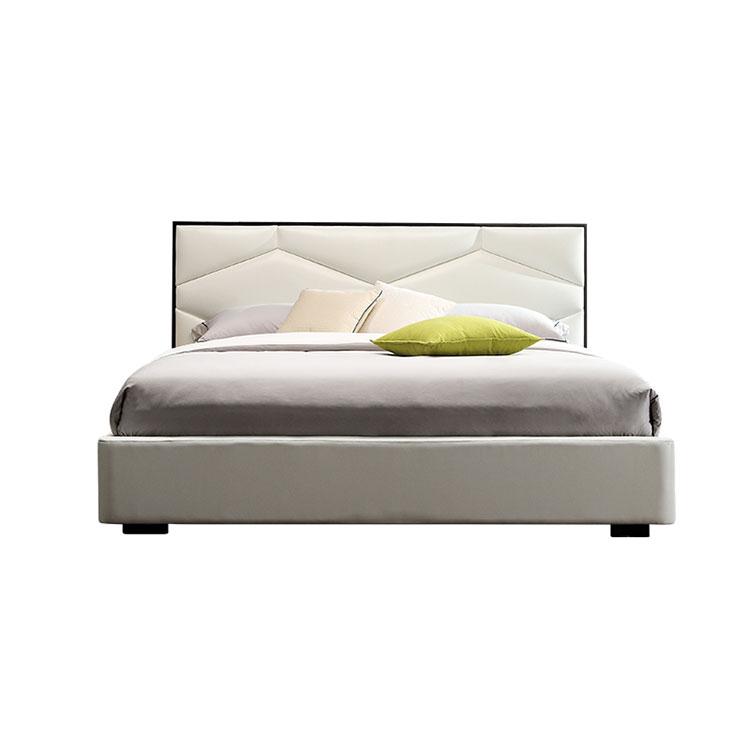 Italian modern simple master bedroom  wedding d  Nordic light luxury double leather bed