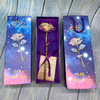 Colorfulgold rose+straay sky gift box + hangbag + certifiacte