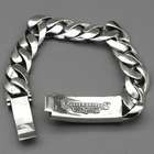 Silver Jewelry Silver Thai Silver Bracelet Gothic Gothic Style Euro American 925 Pure Silver Sword Bracelet Male Thai Silver Jewelry Spot Wholesale